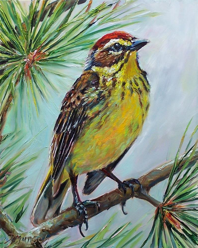 """""""Palm Warbler"""" original fine art by Donna Munsch"""