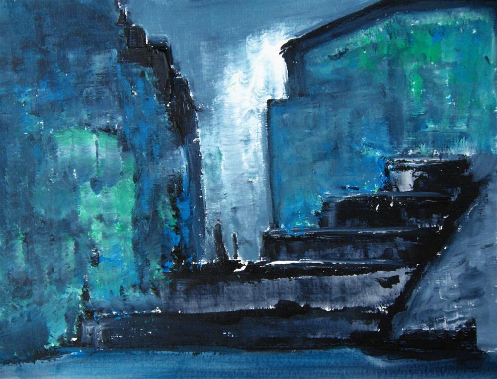 """Meeting Place City Scene"" original fine art by Alina Frent"