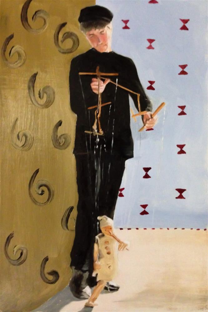 """Titiritero"" original fine art by James Coates"