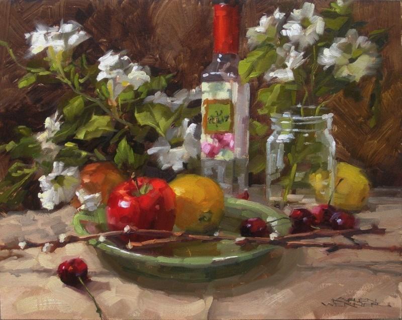 """A Floral Affair"" original fine art by Karen Werner"