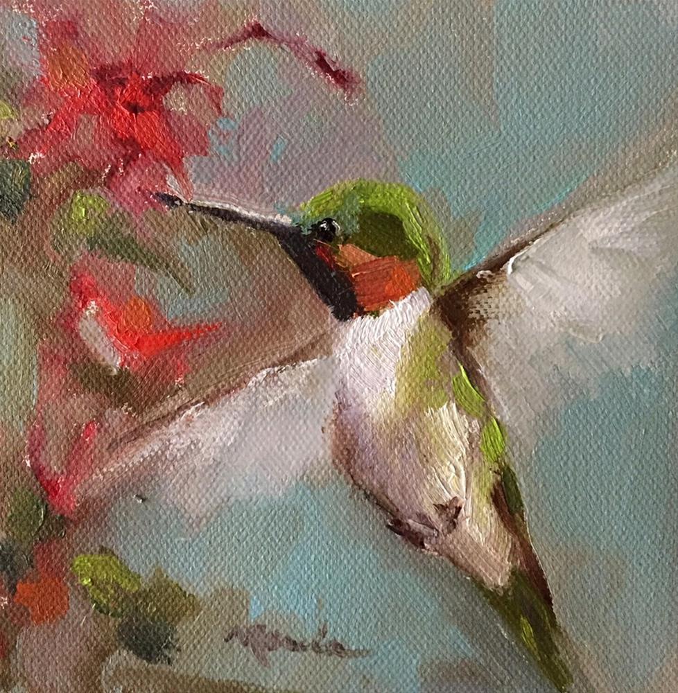 """Hovering"" original fine art by Marcia Hodges"