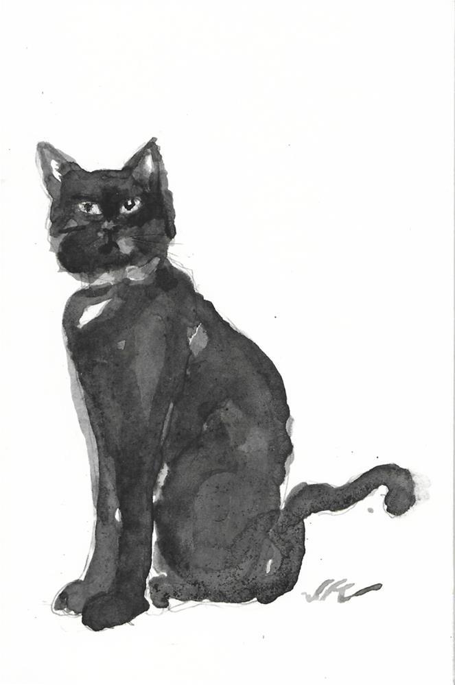 """Daily Cat 42"" original fine art by Jean Krueger"