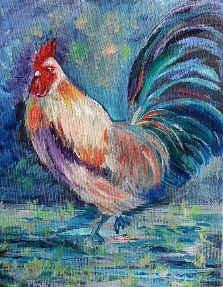 """Key West Chicken #1"" original fine art by Phyllisha Hamrick"