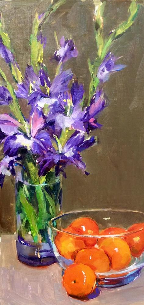 """Glads and Cuties"" original fine art by Laurie Johnson Lepkowska"