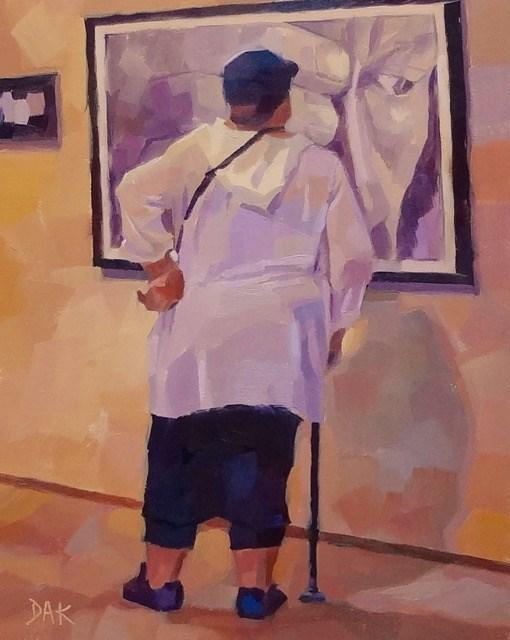 """""""A Closer Look"""" original fine art by Deborah Ann Kirkeeide"""