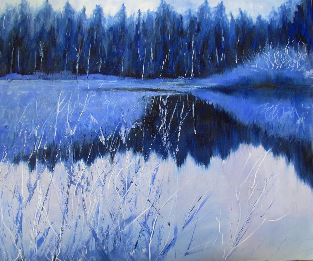 """12 X 14 Iinch oil A Blue Day"" original fine art by Linda Yurgensen"