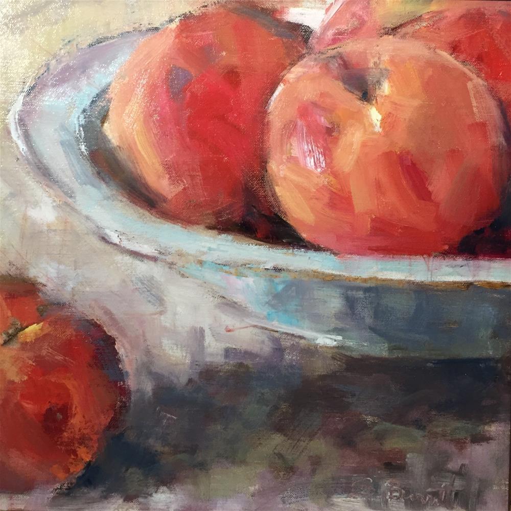 """""""Peachy Keen"""" original fine art by Sherri Burritt"""