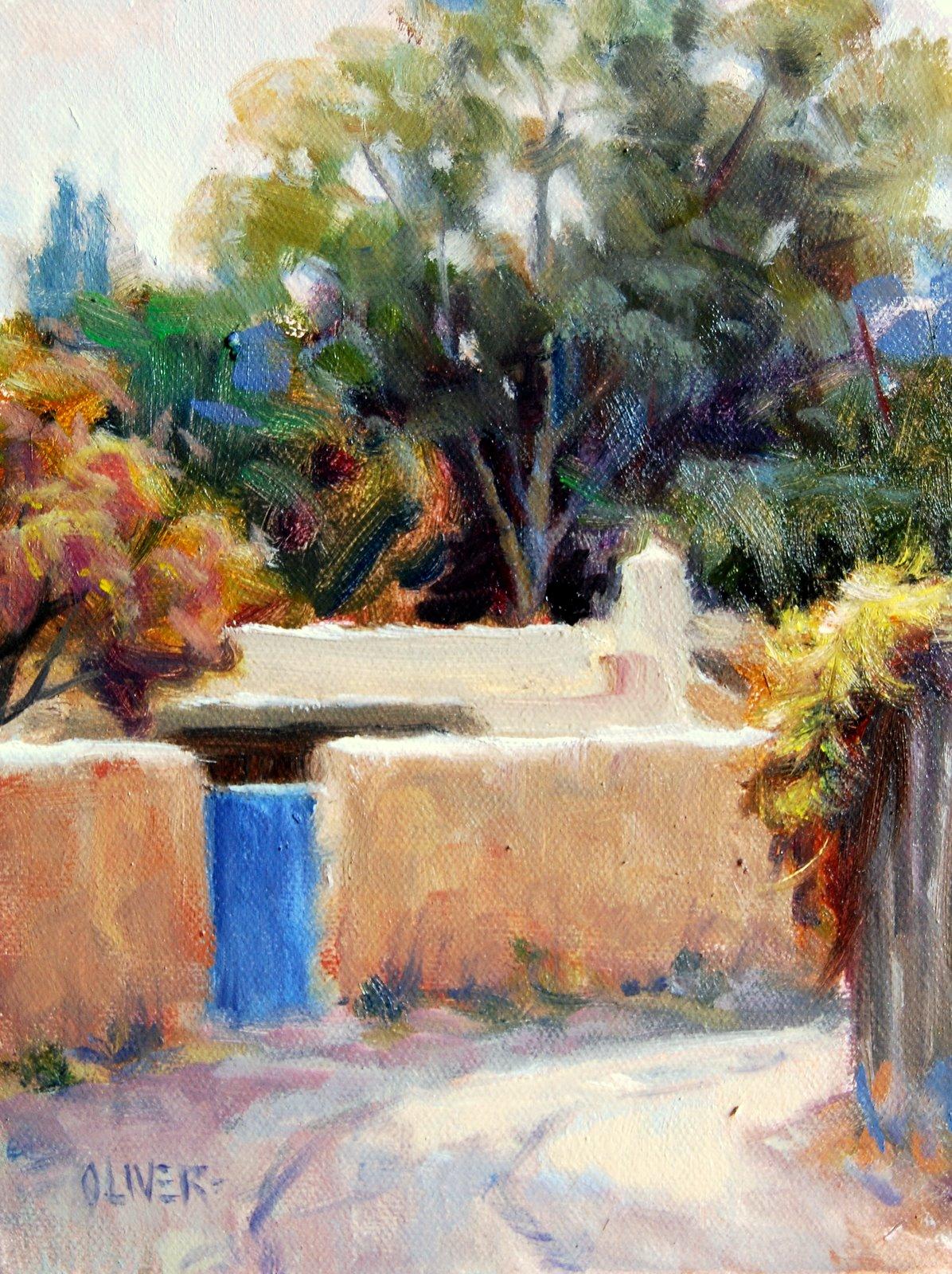 """""""Santa Fe Lane"""" original fine art by Julie Ford Oliver"""