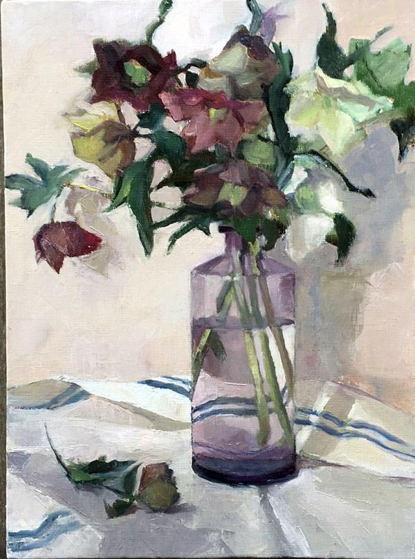"""Winter Roses"" original fine art by Myriam Kin-Yee"