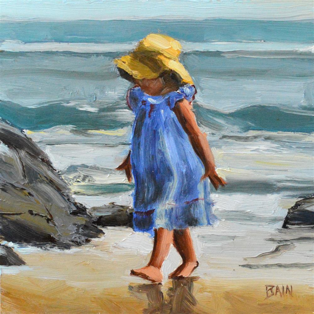 """""""Toddler, Ogunquit"""" original fine art by Peter Bain"""