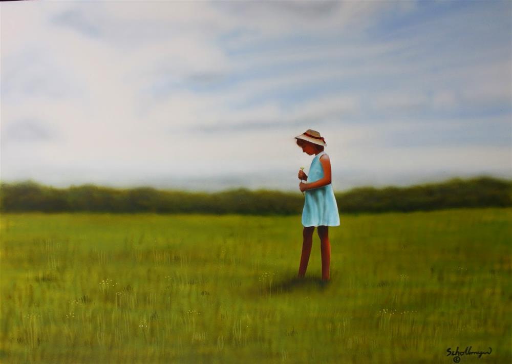 """""""Picking Daisies"""" original fine art by Fred Schollmeyer"""