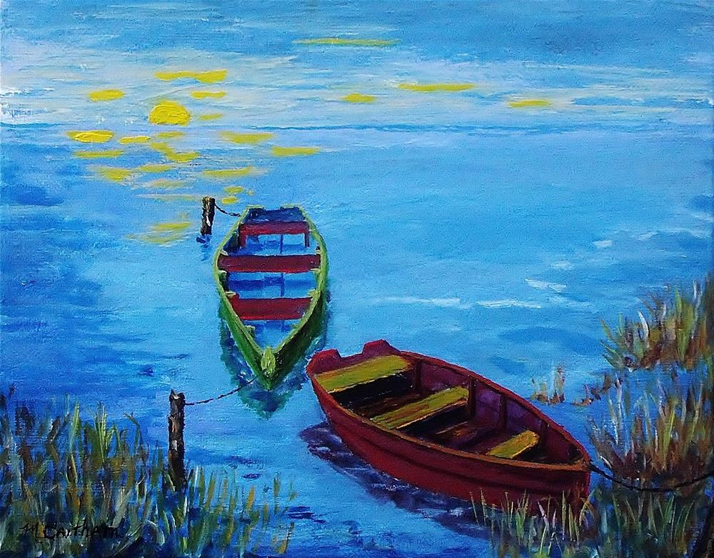 """""""Two Boats"""" original fine art by Mike Caitham"""
