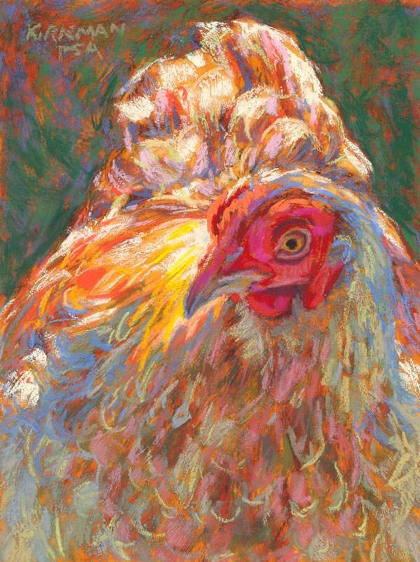 """""""Goldie Hen"""" original fine art by Rita Kirkman"""