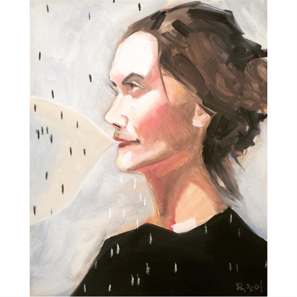 """663 Raining Notes"" original fine art by Jenny Doh"