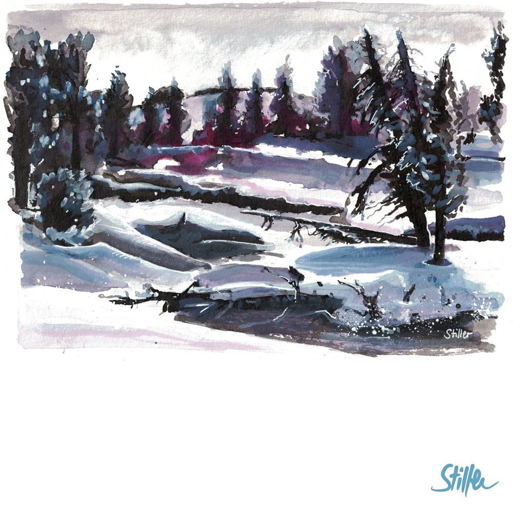 """""""3417 WinterWinterLand"""" original fine art by Dietmar Stiller"""