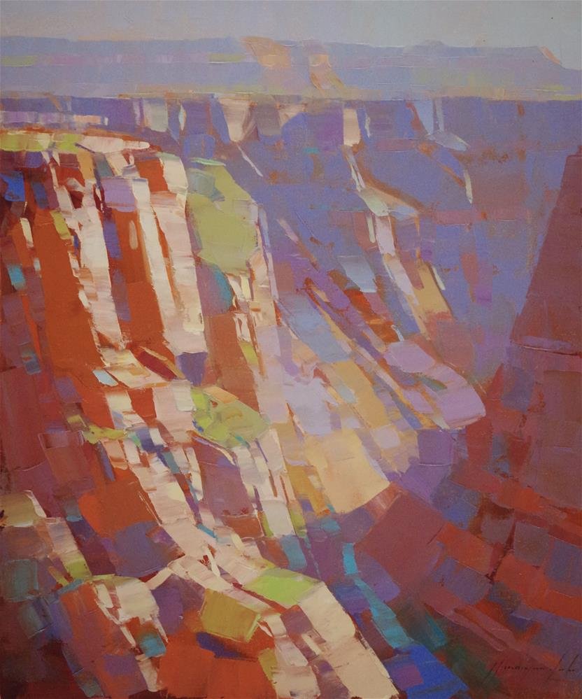 """Grand Canyon Original Palette oil Painting Hand Painted One of a Kind"" original fine art by V Y"