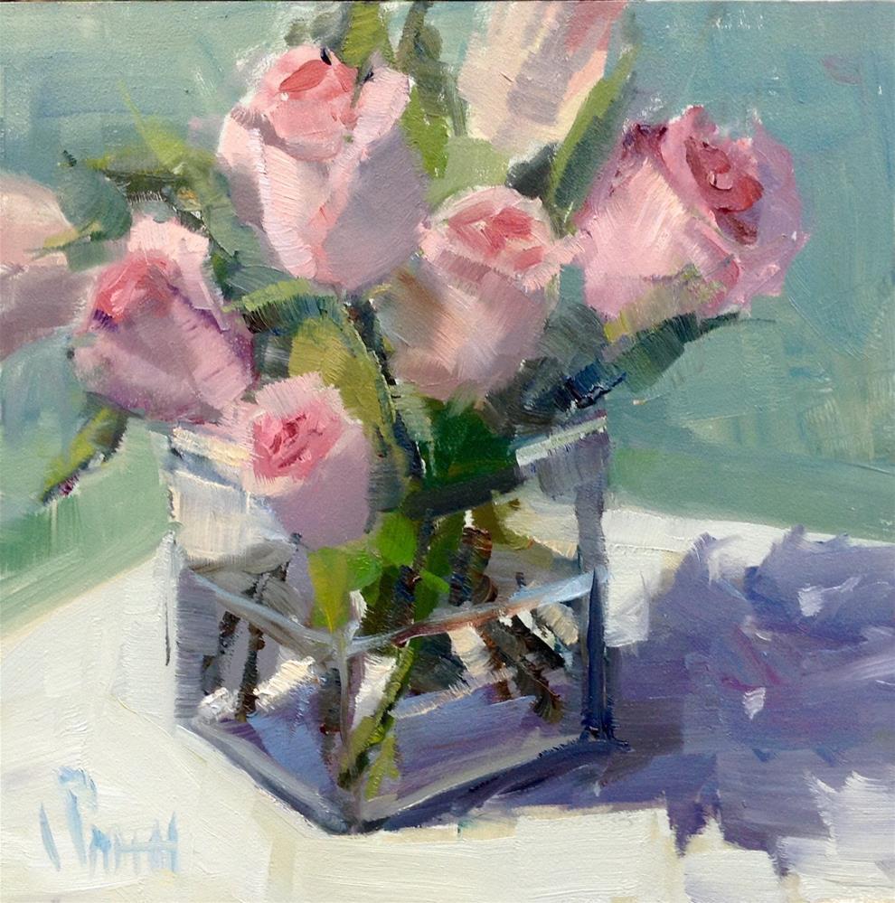 """Blushing Pink Beauties"" original fine art by Barbie Smith"