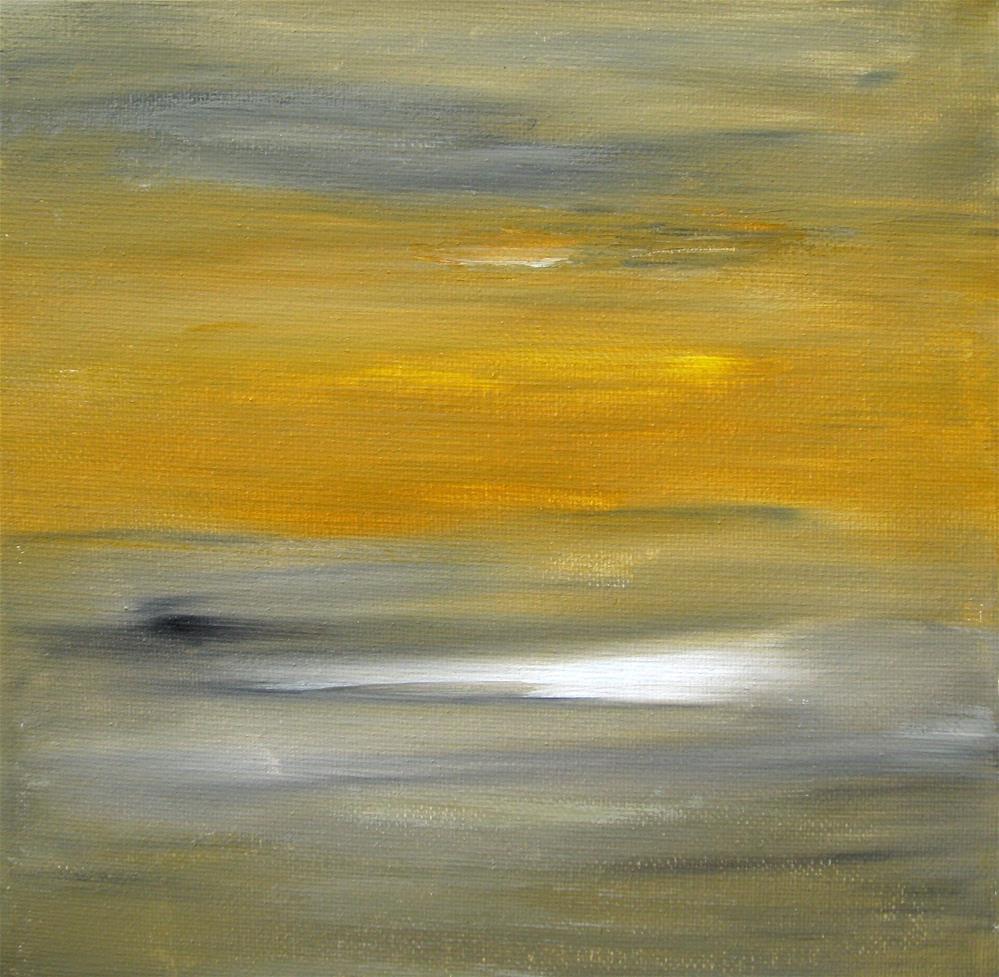 """Yellow Sky"" original fine art by Alina Frent"
