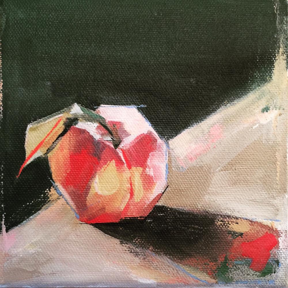 """564 Peachy Peach"" original fine art by Jenny Doh"
