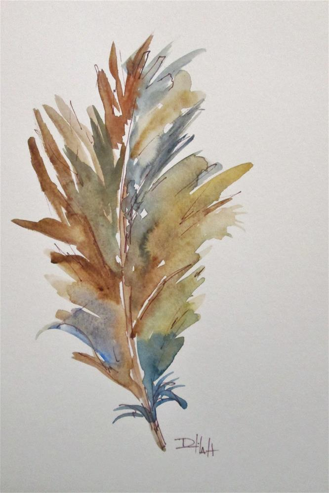 """Feather No. 4"" original fine art by Delilah Smith"