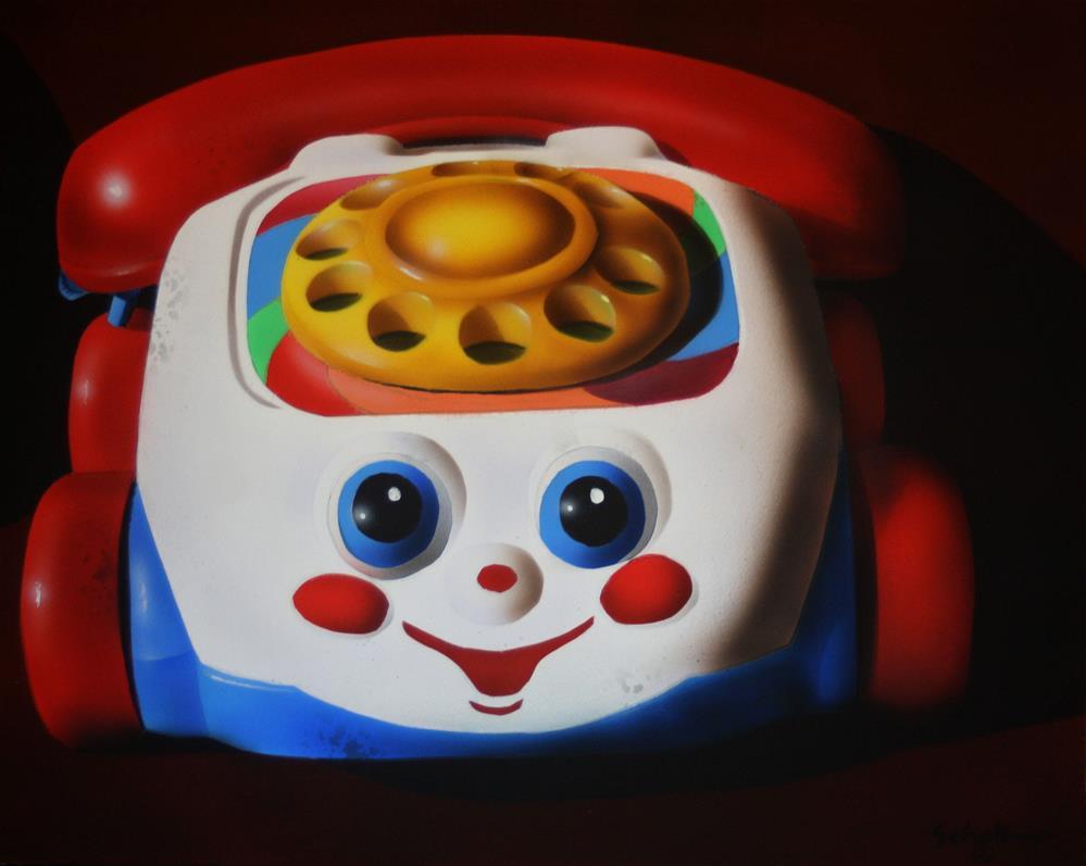 """The First Eye Phone"" original fine art by Fred Schollmeyer"