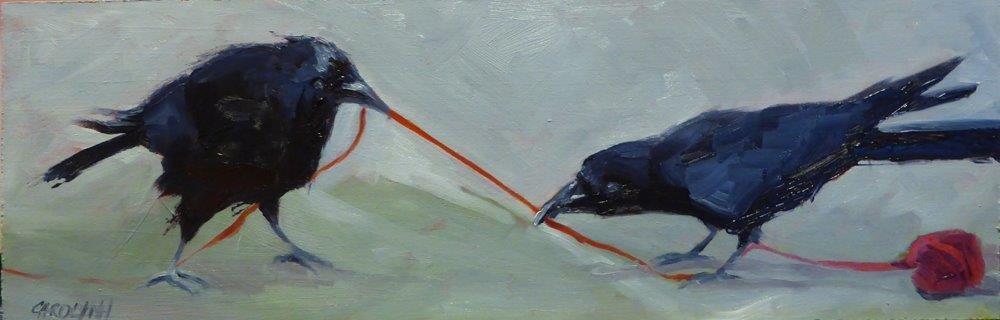 """""""The Power Struggle"""" original fine art by Carolynn Doan"""
