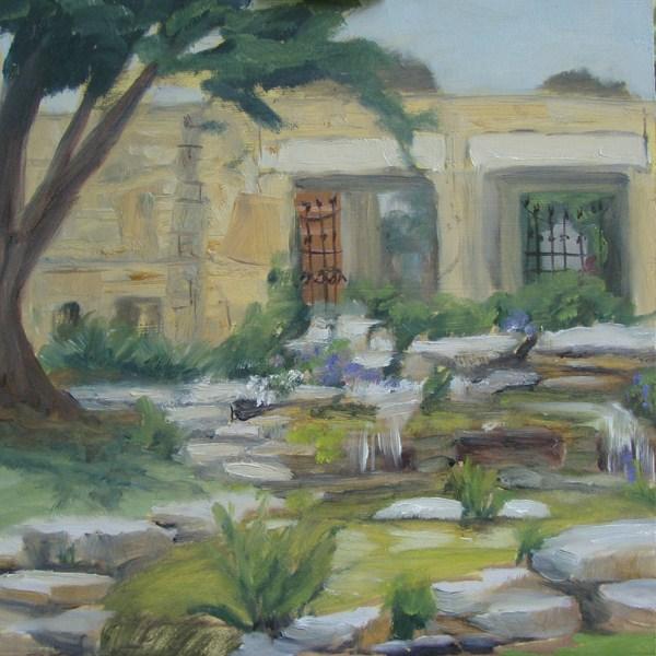 """Texas State Cemetery Falls"" original fine art by Jane Frederick"