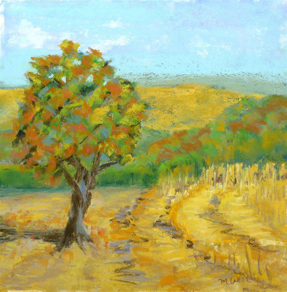 """""""Bell Road"""" original fine art by Mary Weil"""