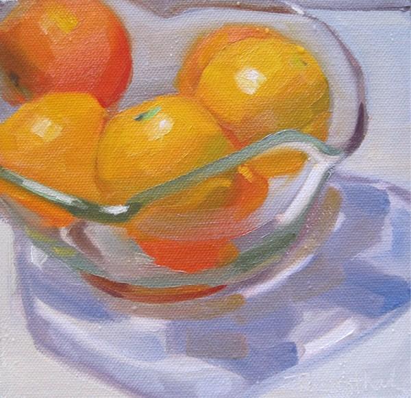 """Oranges in Bowl"" original fine art by Robin Rosenthal"