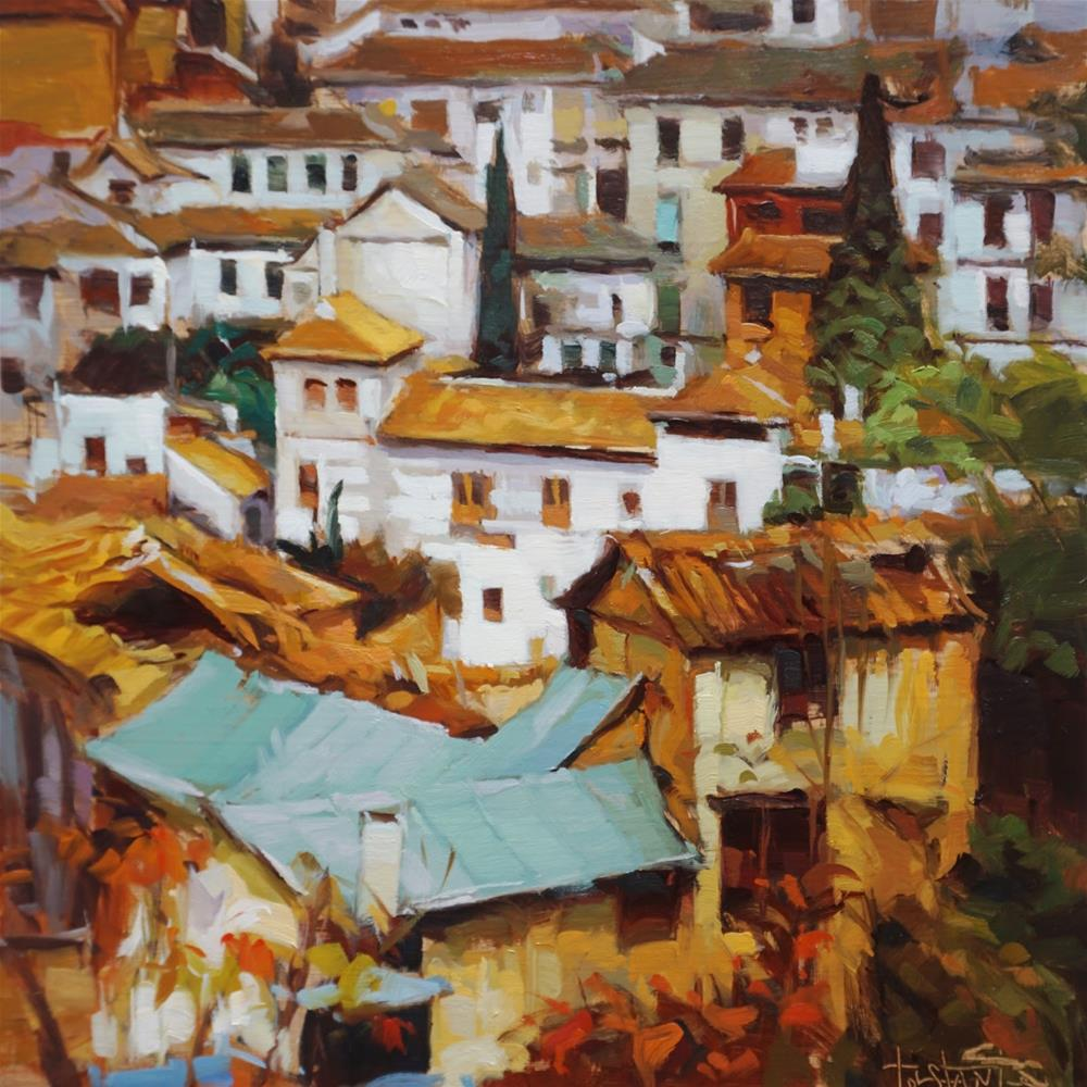 """Windows mosaic"" original fine art by Víctor Tristante"