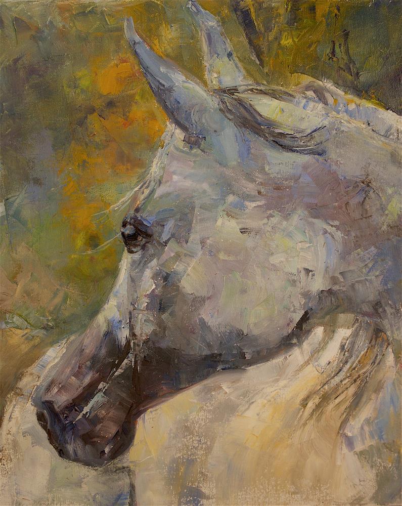 """""""Looking Back"""" original fine art by Carol DeMumbrum"""