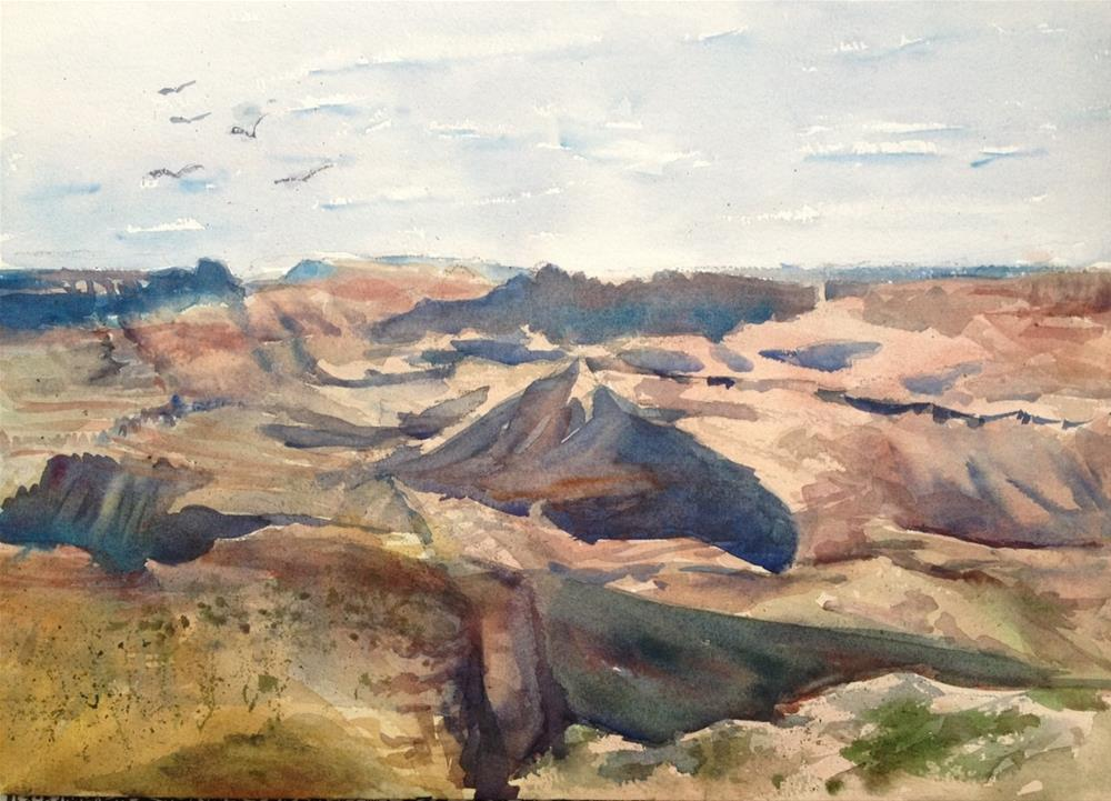 """""""Shadows from the South Rim"""" original fine art by Claudia L Brookes"""