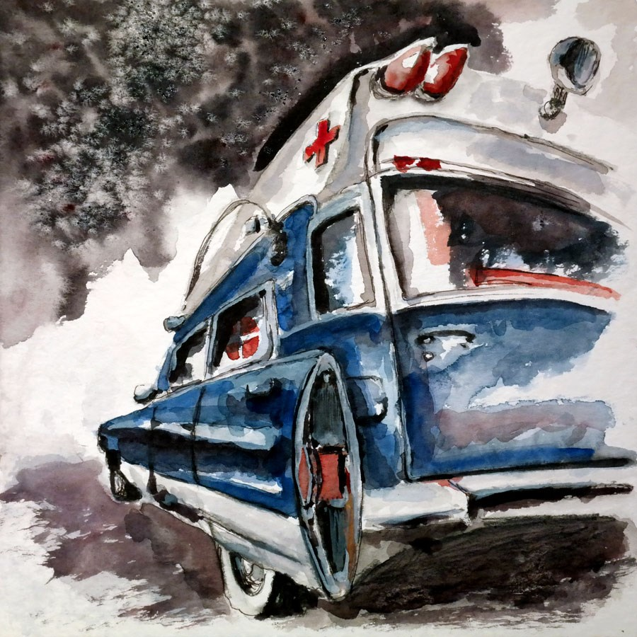 """0901 Ambulance"" original fine art by Dietmar Stiller"