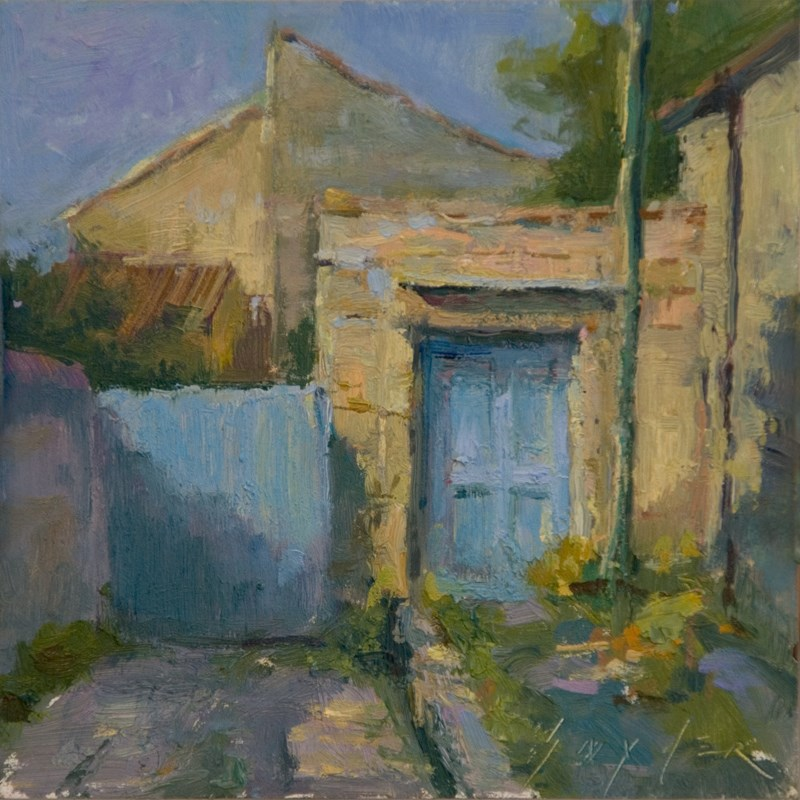 """La Porte Bleue"" original fine art by Julie Snyder"