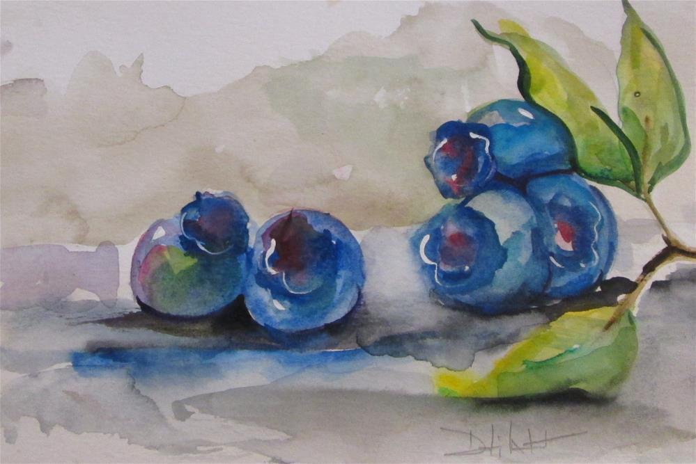 """Blueberries"" original fine art by Delilah Smith"