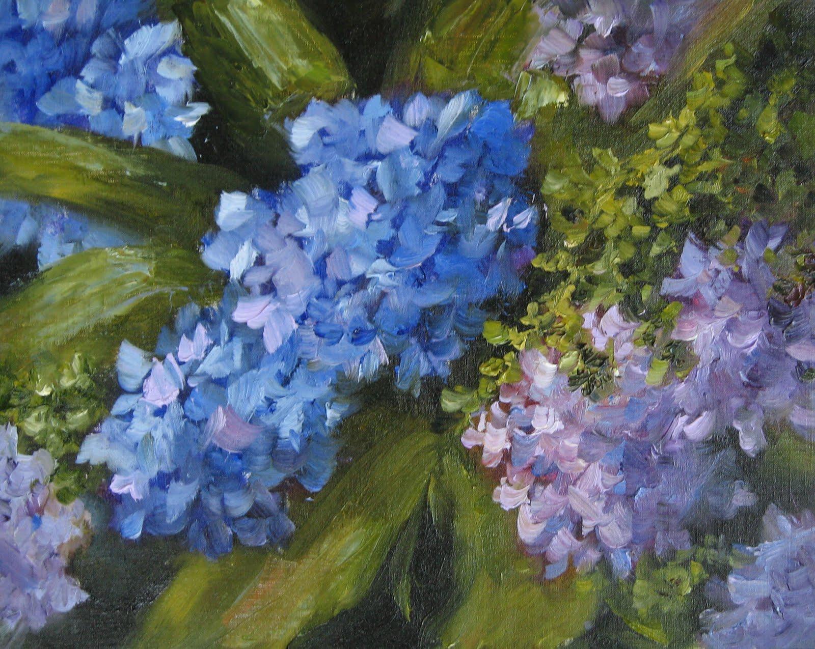 """Flower Study #10 Hydrangeas"" original fine art by Pat Fiorello"