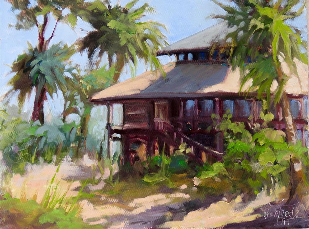 """Visitor Center at Charlotte Harbor Environmental, Florida"" original fine art by Christa Friedl"