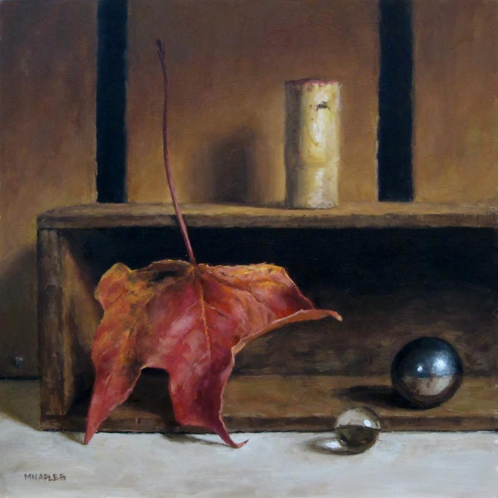 """Still Life with Fall Leaf"" original fine art by Michael Naples"