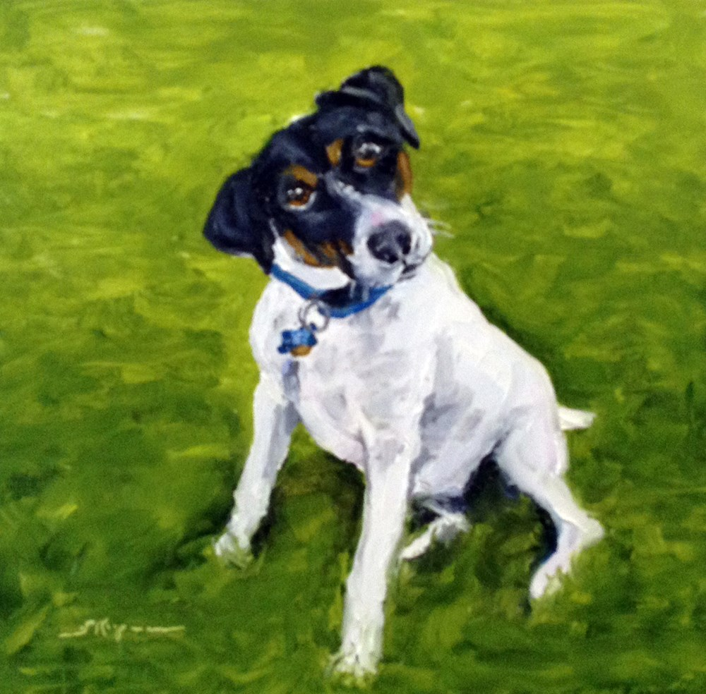 """Bradley at One Year"" original fine art by Shelley Koopmann"