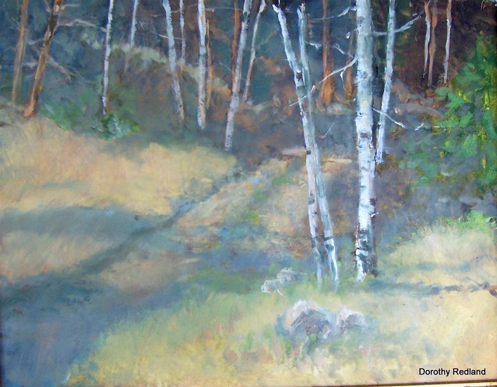 """Road up the hill"" original fine art by Dorothy Redland"