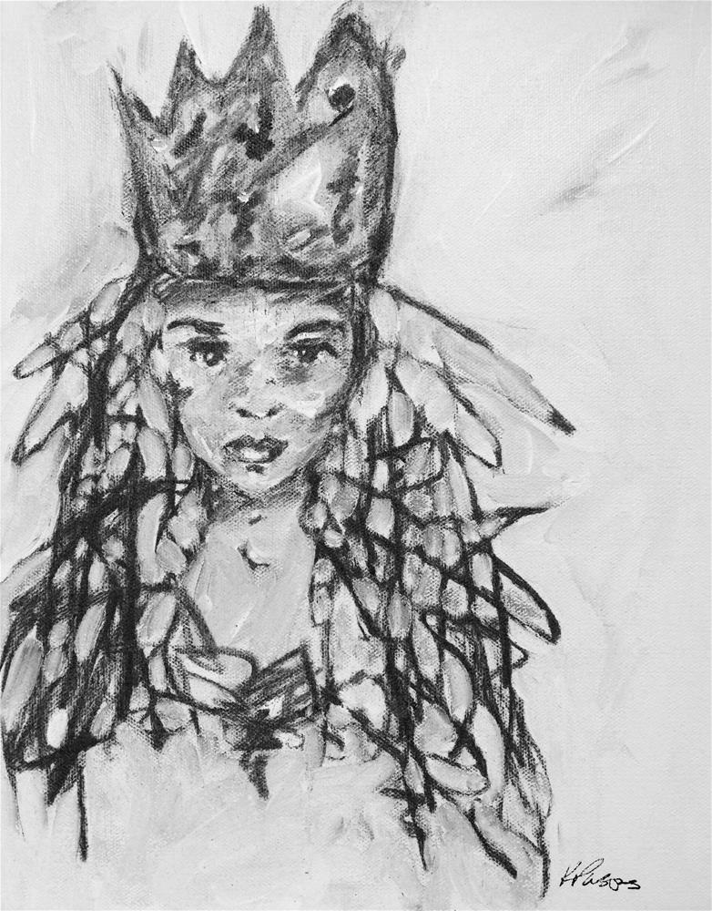 """""""His Magesty, the Queen"""" original fine art by Kali Parsons"""