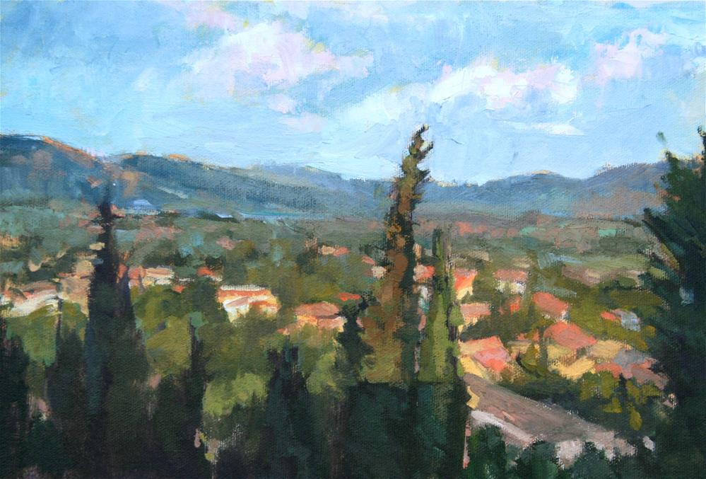 """""""Provence - View from the Chateau II"""" original fine art by Jane Robertson"""