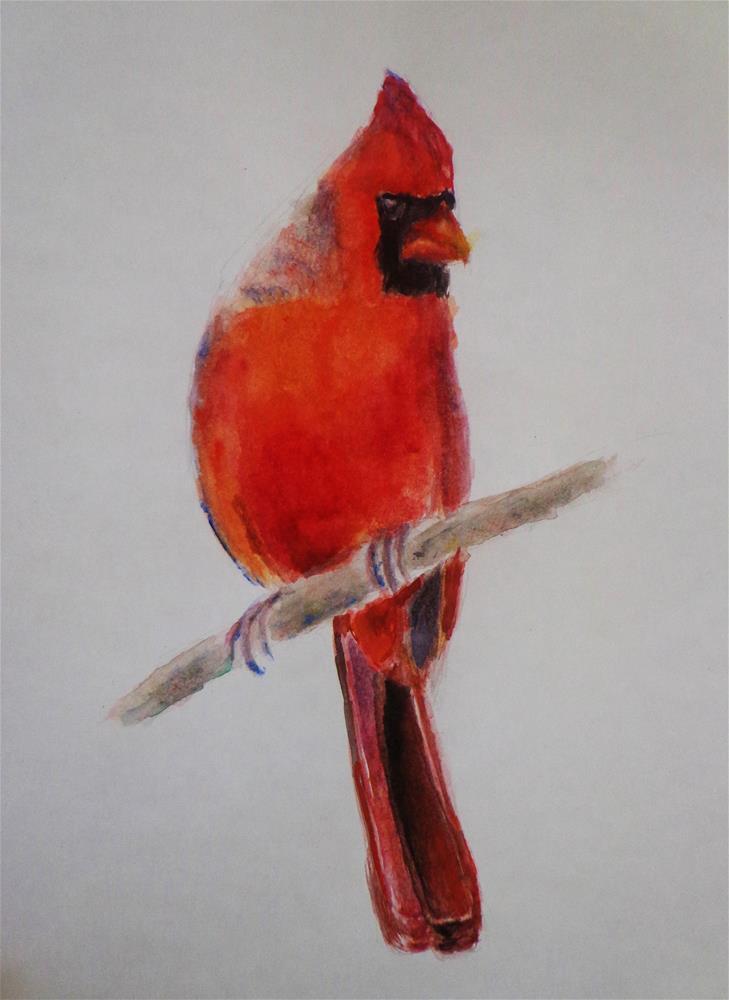 """Cardinal"" original fine art by Maria Z."