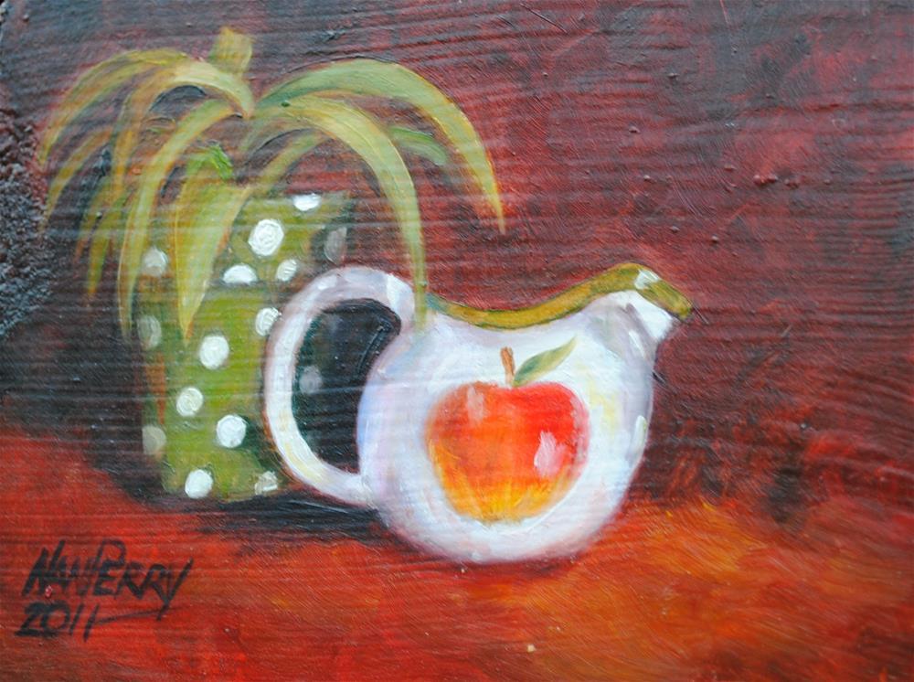 """Apple Pitcher"" original fine art by Nan Perry"