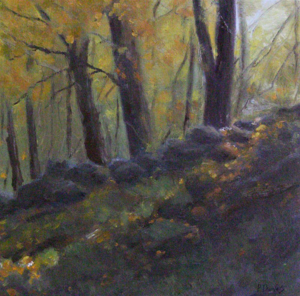 """""""The Old Stone Wall"""" original fine art by Patricia J. Powers"""