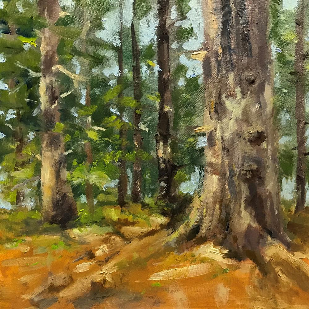 """sunshine in the woods"" original fine art by Betty Argiros"