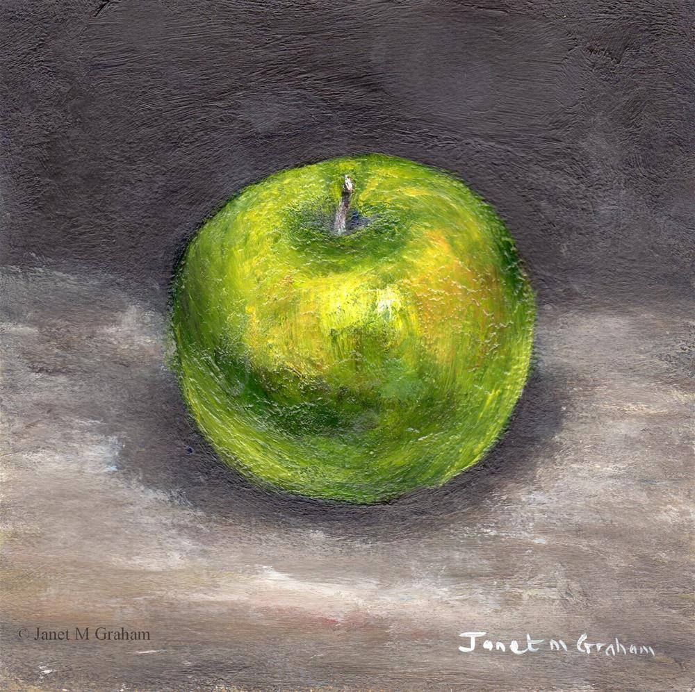 """Granny Smith Apple"" original fine art by Janet Graham"
