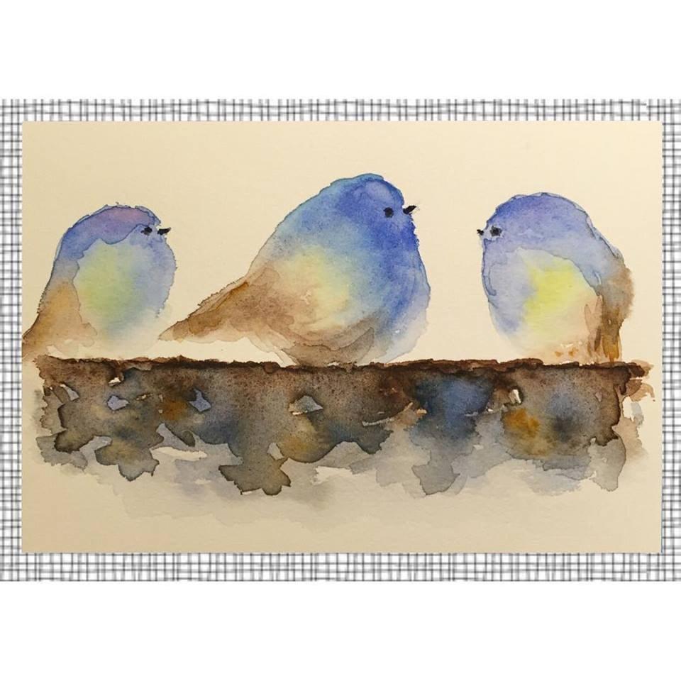 """""""Trio"""" original fine art by Melissa Gresham"""