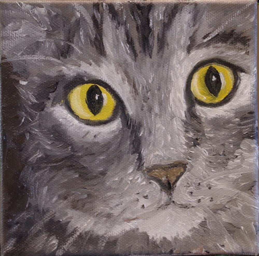 """The Cat's Meow"" original fine art by Ann Cohen"