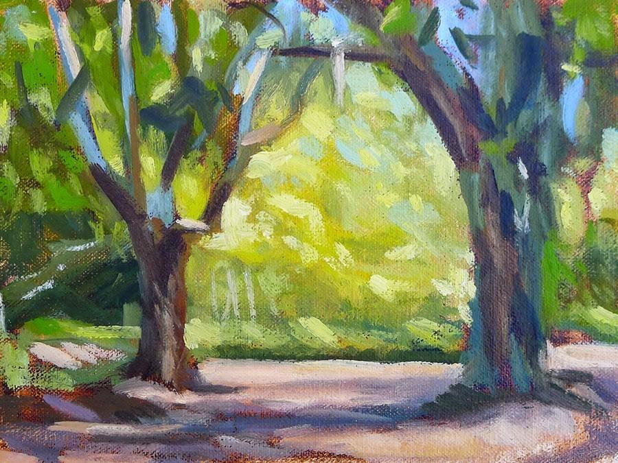 """""""St. Simons Oaks II"""" original fine art by Adam Houston"""